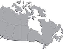 Nro 1 kilpailuun Create a Locations Map of Canada With 3 Points käyttäjältä tflbr