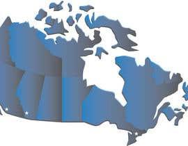 Nro 2 kilpailuun Create a Locations Map of Canada With 3 Points käyttäjältä tflbr