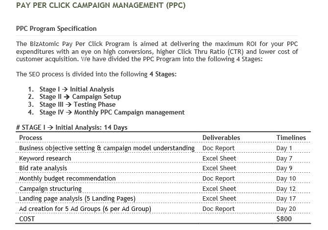 Proposition n°35 du concours Create/Manage a  PPC Campaign for Top USA Firm