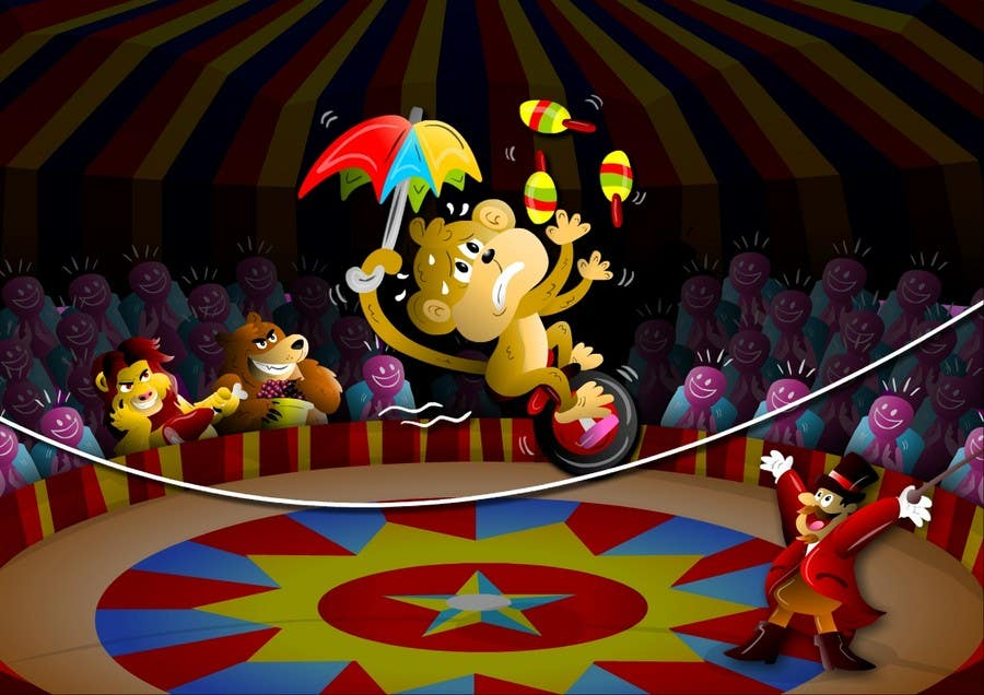 Contest Entry #                                        9                                      for                                         Illustration Design for Childrens Book - Circus Scene