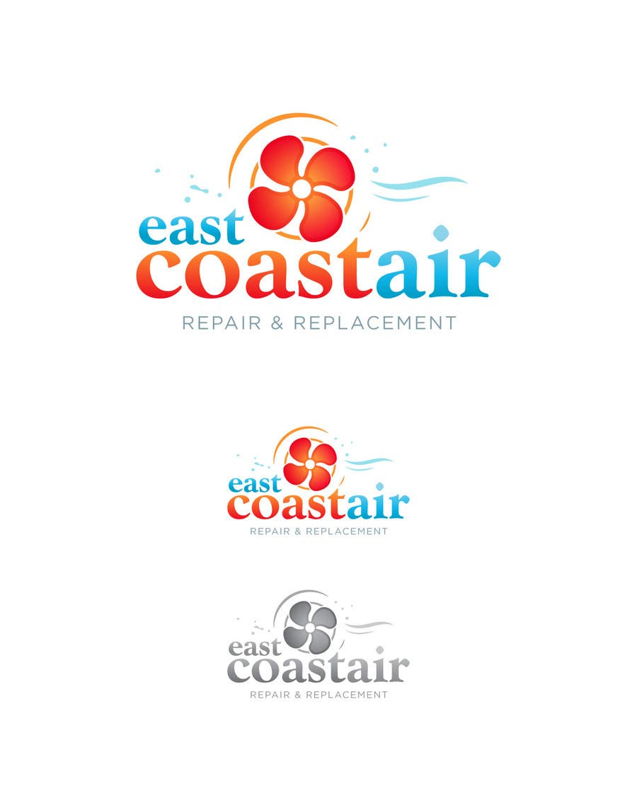 #107 for Design a Logo for East Coast Air conditioning & refrigeratiom by eshtiyak