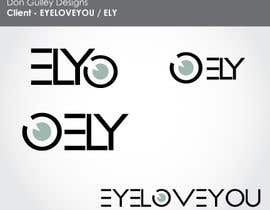 #49 para Logo Design For EyeWear Brand (EYELOVEYOU+ELY) por dongulley