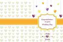 Contest Entry #22 for Design some Stationery for a Wedding Congratulations Card