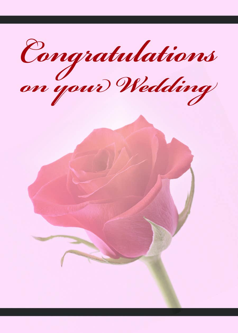 Entry 12 by sarahlee1021 for design some stationery for a wedding contest entry 12 for design some stationery for a wedding congratulations card m4hsunfo