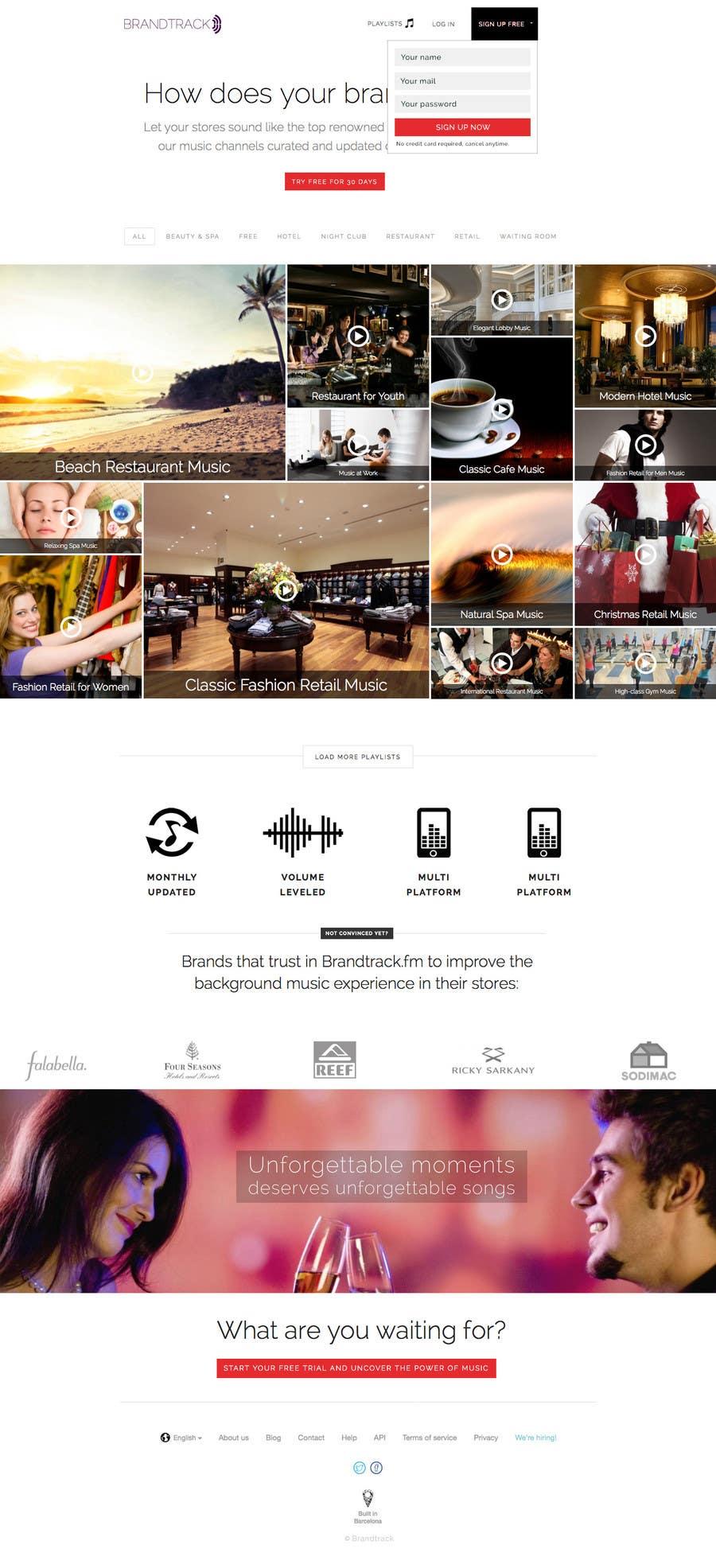 Penyertaan Peraduan #20 untuk Improve the Design of a wordpress theme for a Music Website