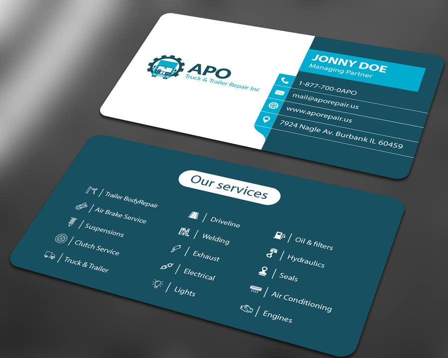 Design a logo and business cards for truck trailer for Trucking business card design