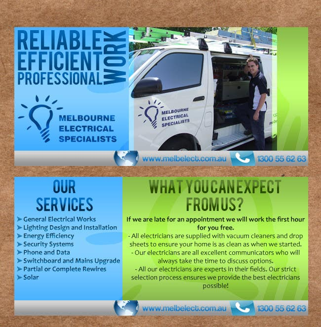 Contest Entry #                                        50                                      for                                         Graphic Design for Melbourne Electrical Specialists