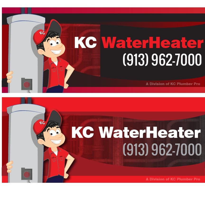 Contest Entry #13 for Design a Banner for KC Water Heater