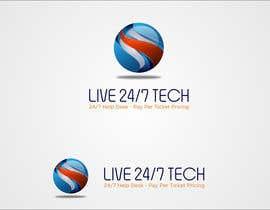 mille84 tarafından Live 24/7 Tech Logo için no 119
