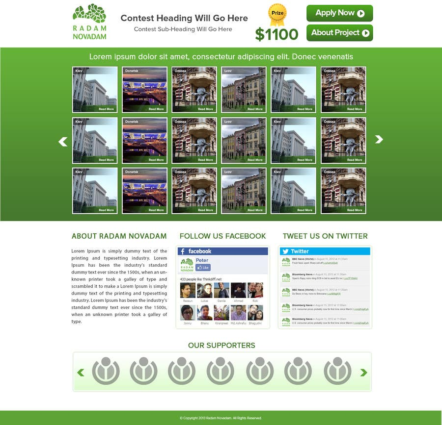 #16 for Design for website front page by atularora
