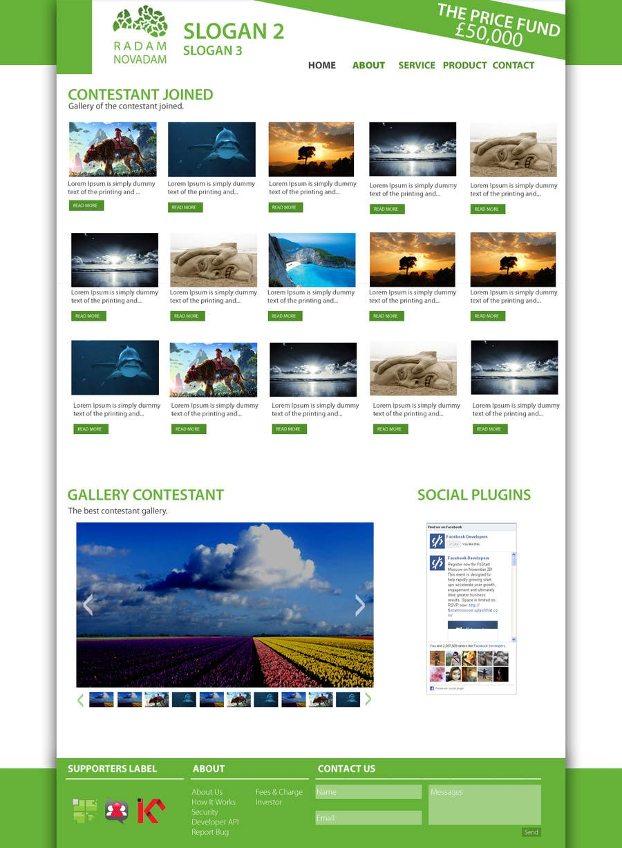 #9 for Design for website front page by Syahriza