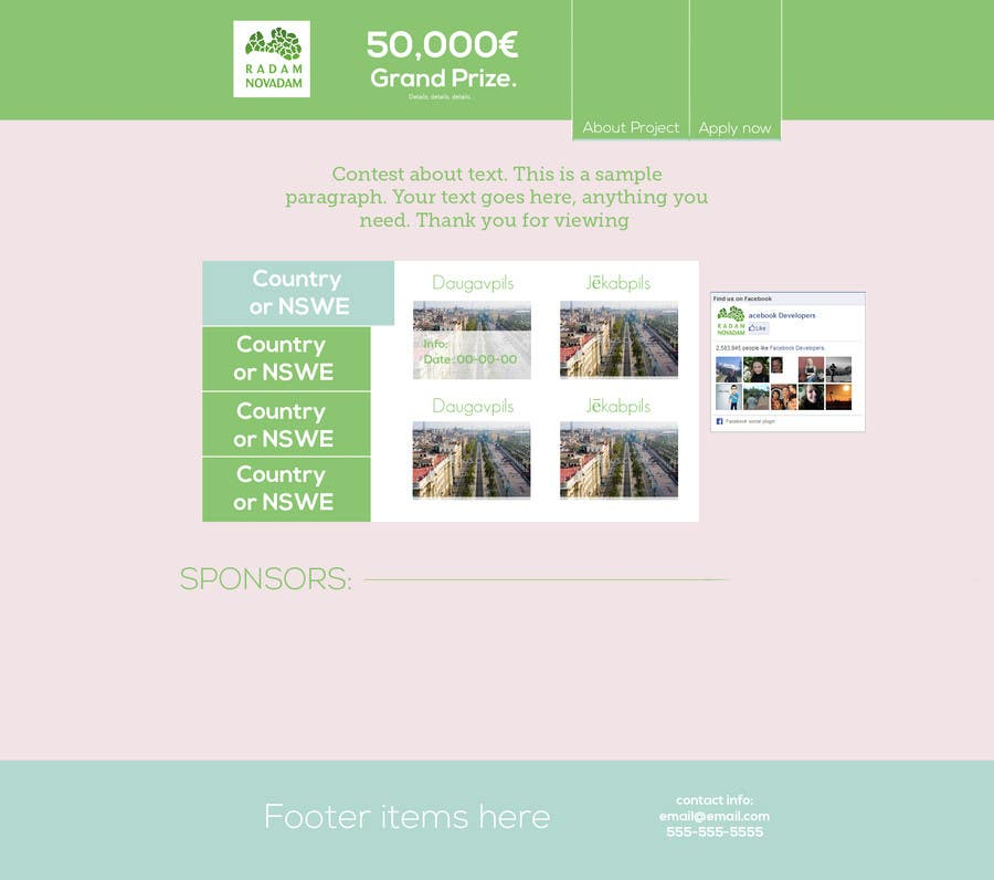 #1 for Design for website front page by AlexZWoahWeb