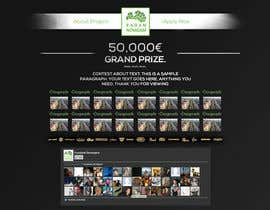 nº 13 pour Design for website front page par AlexZWoahWeb