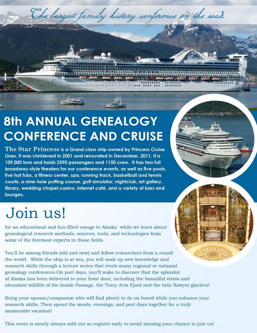 Inscrição nº 45 do Concurso para Brochure Design for Annual Conference and Cruise