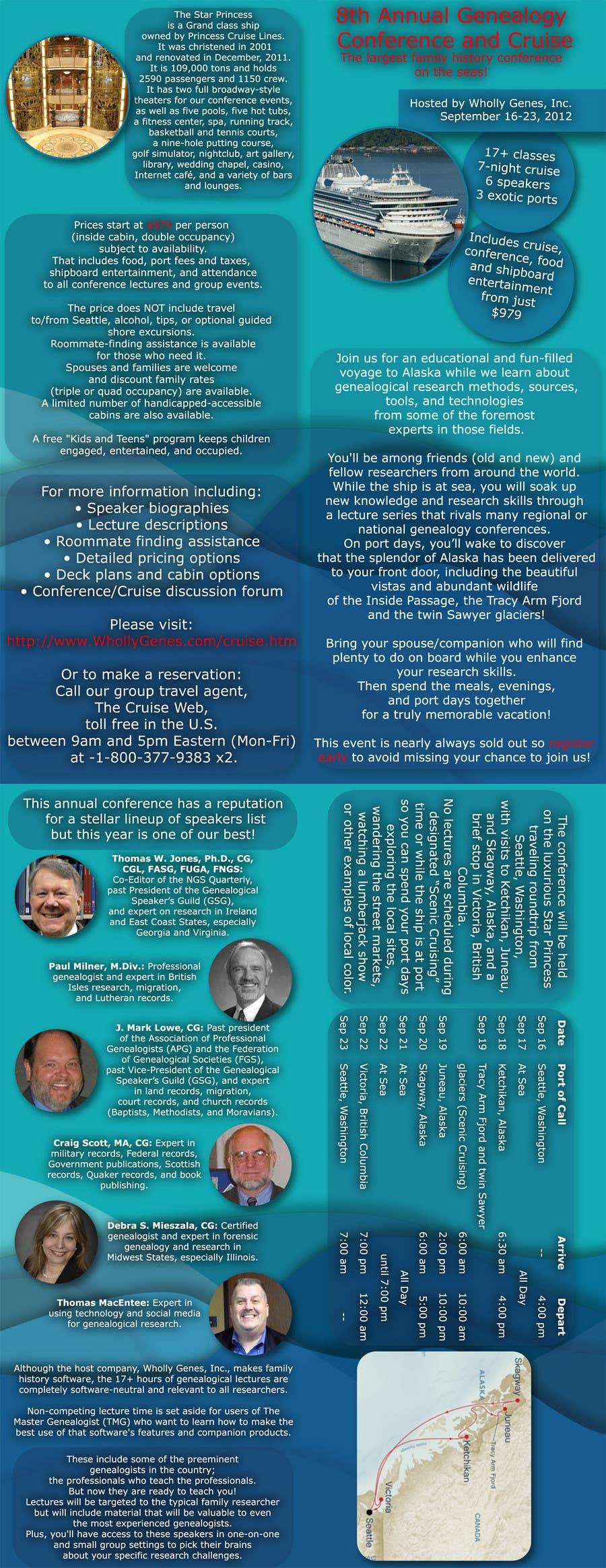 Inscrição nº 48 do Concurso para Brochure Design for Annual Conference and Cruise
