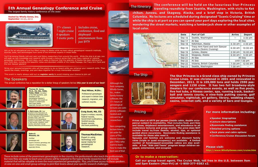 Bài tham dự cuộc thi #                                        2                                      cho                                         Brochure Design for Annual Conference and Cruise