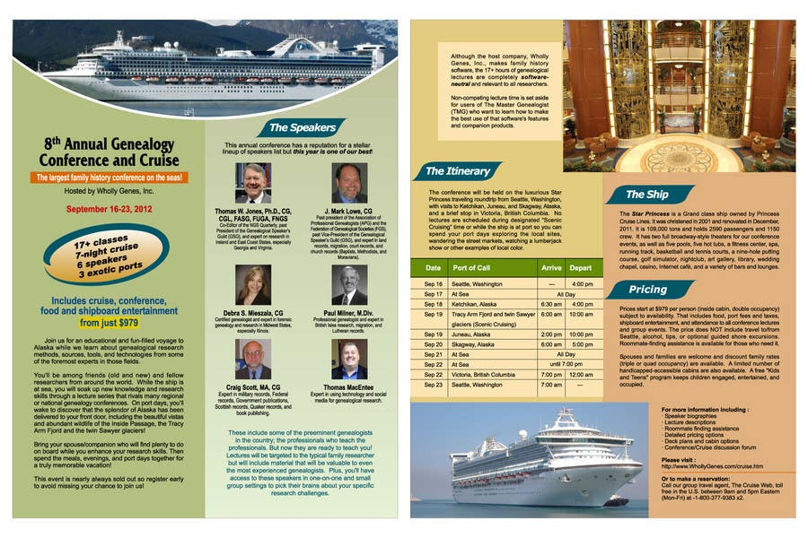 Bài tham dự cuộc thi #                                        47                                      cho                                         Brochure Design for Annual Conference and Cruise
