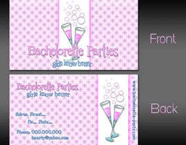 #31 untuk Design some Business Cards for my business running bachelorette parties oleh atomixvw