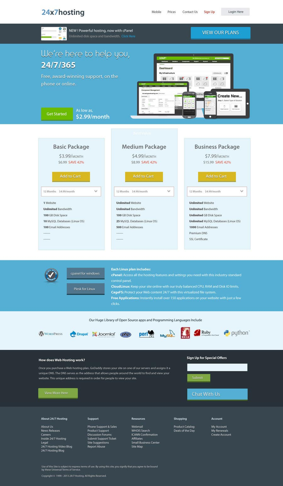 Konkurrenceindlæg #4 for Build a Website Mock up for a web hosting company
