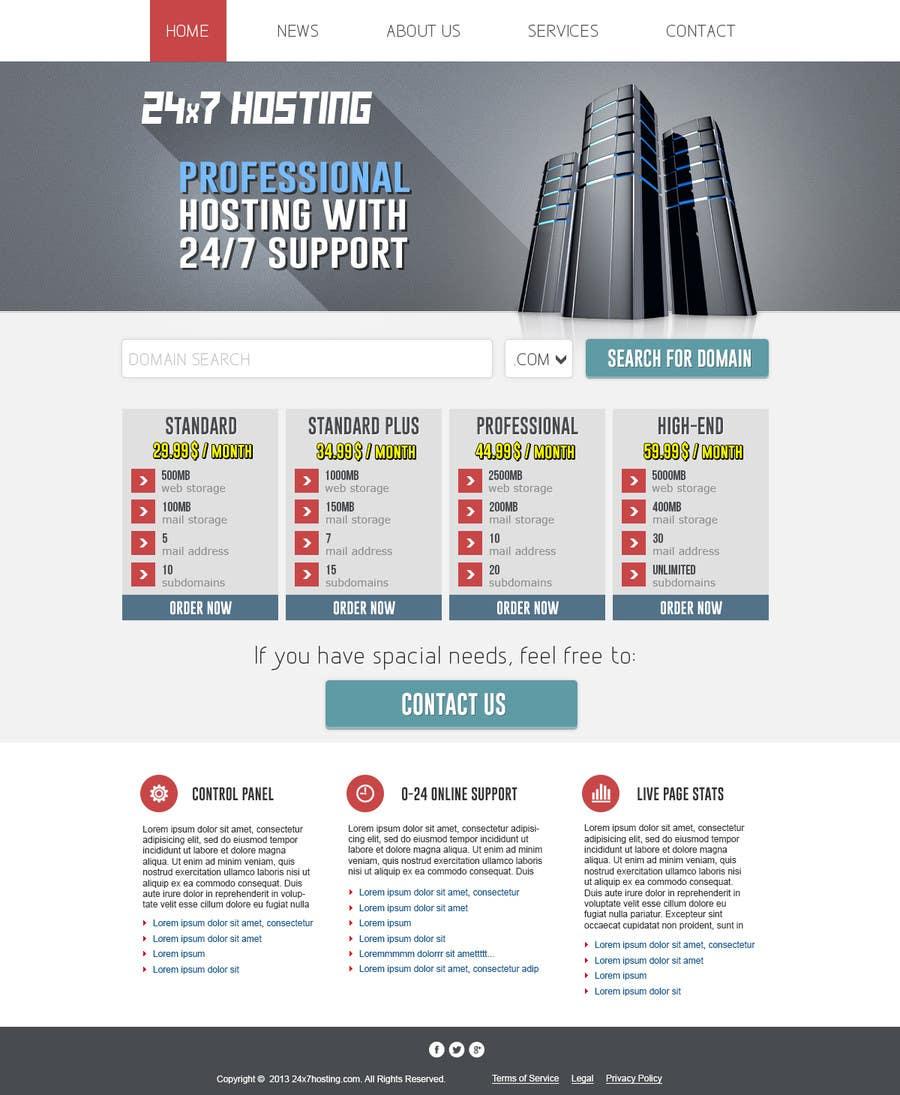 Konkurrenceindlæg #8 for Build a Website Mock up for a web hosting company