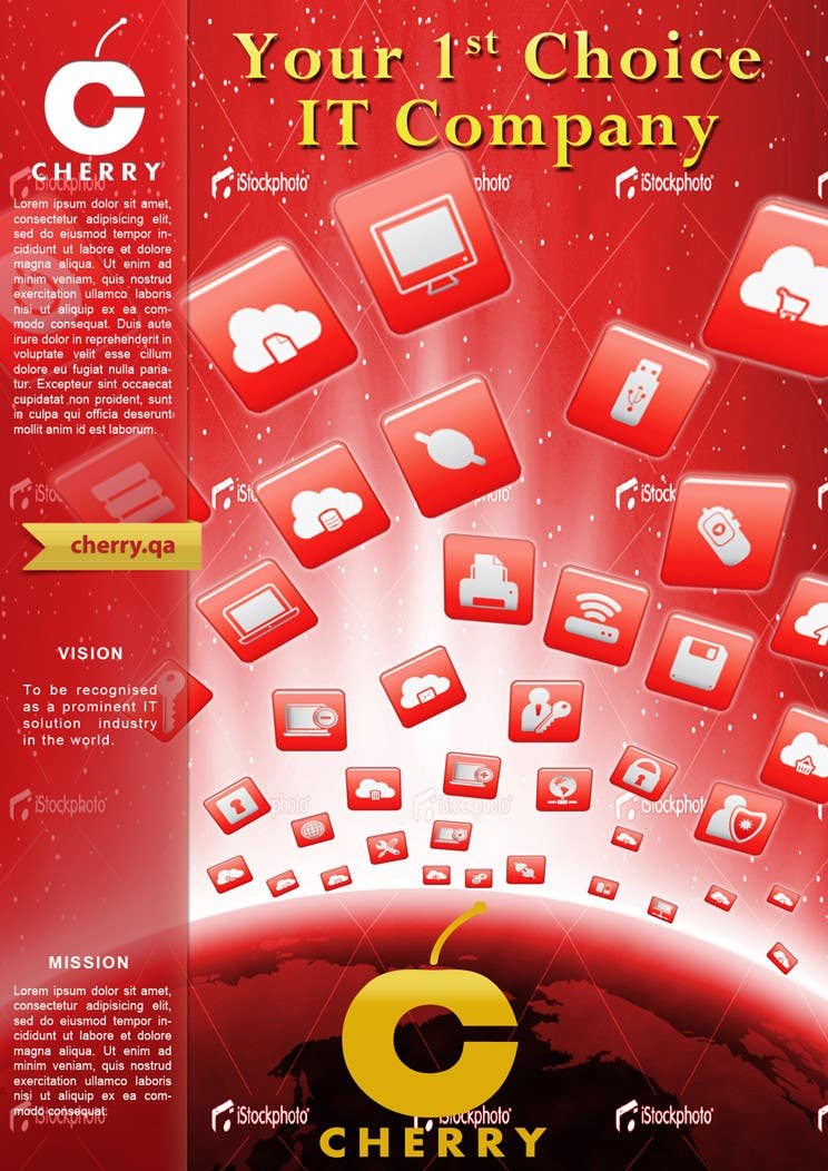 Inscrição nº                                         33                                      do Concurso para                                         Brochure Design for Cherry Computers Co. W.L.L.