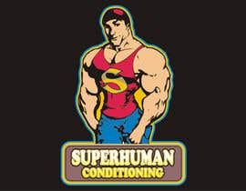 nº 28 pour Design a 'comic book style' Logo for: Superhuman Conditioning par artist4