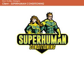 nº 10 pour Design a 'comic book style' Logo for: Superhuman Conditioning par dongulley