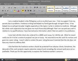 Medicus256 tarafından Tell about your experiences working as an online freelancer için no 9
