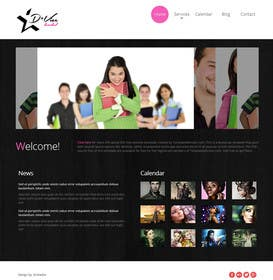 nº 7 pour Design website template based on style logo par zicmedia
