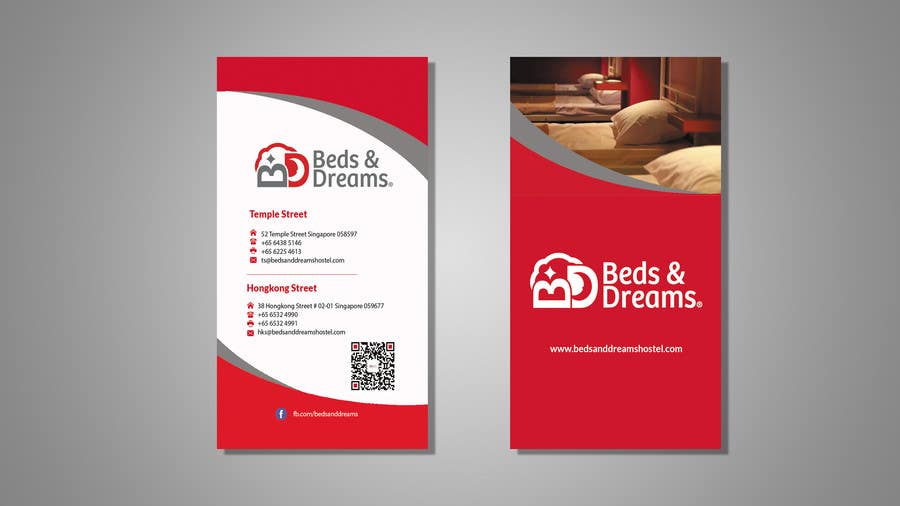 entry 145 by taniim for business card design for hostel booking