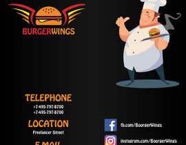 Nro 26 kilpailuun burger restaurant menu käyttäjältä aliyevart