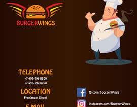 Nro 27 kilpailuun burger restaurant menu käyttäjältä aliyevart