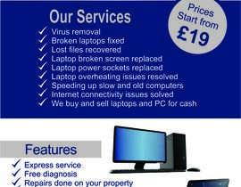 Nro 12 kilpailuun Design a Flyer For Computer / Phone Repair käyttäjältä terucha2005