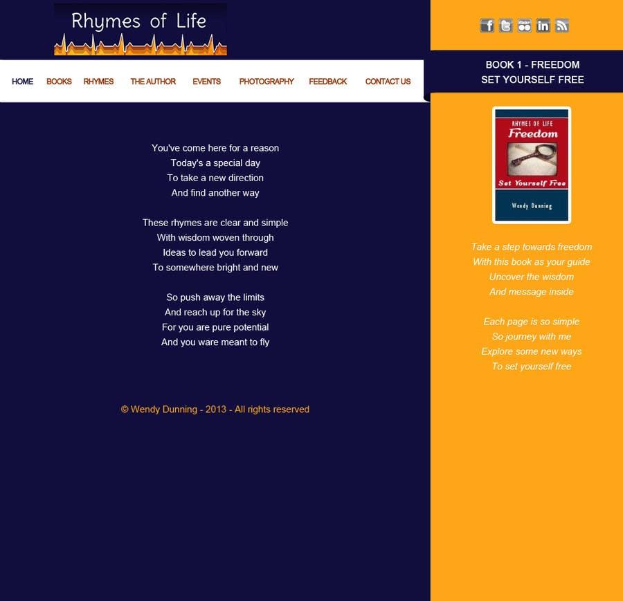 Inscrição nº 3 do Concurso para Design a Website Mockup for Rhymes Website