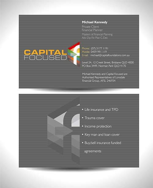 #14 for Design Business Cards and a logo for Capital Foundations an insurance advice business by graphics15