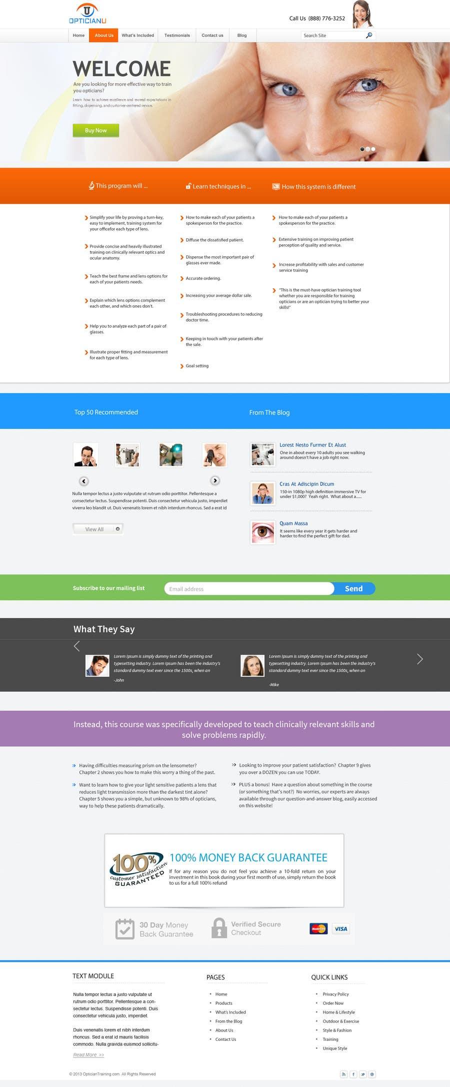 Penyertaan Peraduan #                                        8                                      untuk                                         Design a Website Mockup for www.OpticianTraining.com
