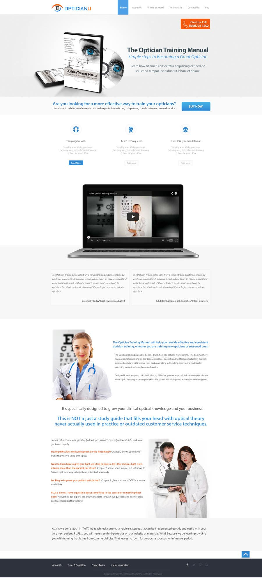 Penyertaan Peraduan #                                        4                                      untuk                                         Design a Website Mockup for www.OpticianTraining.com