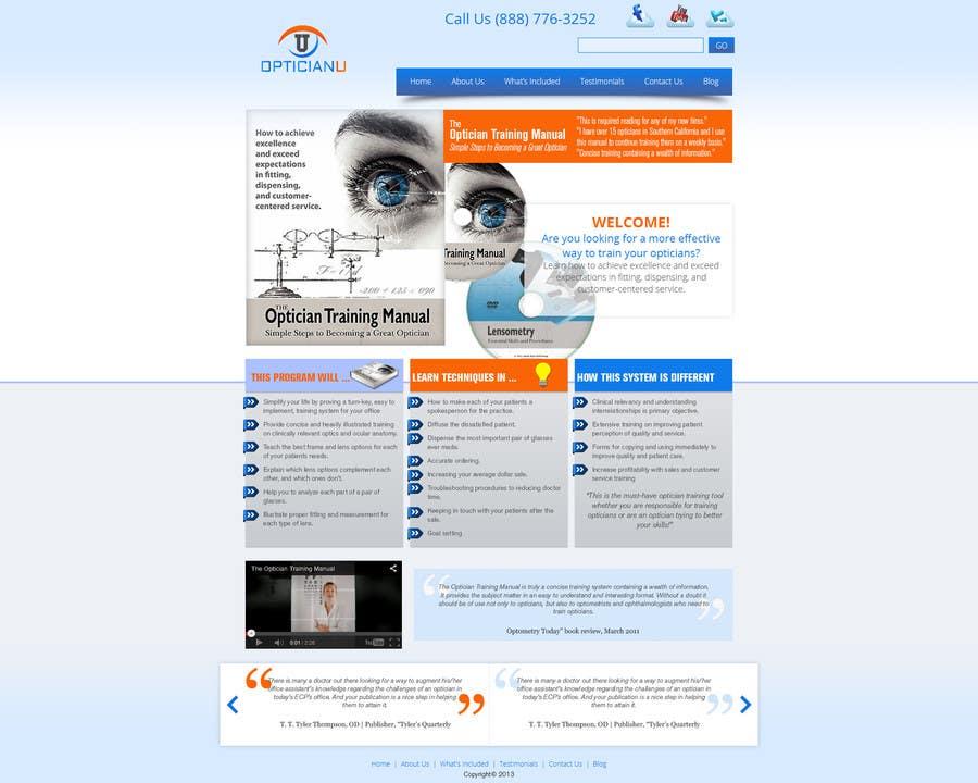Penyertaan Peraduan #                                        10                                      untuk                                         Design a Website Mockup for www.OpticianTraining.com
