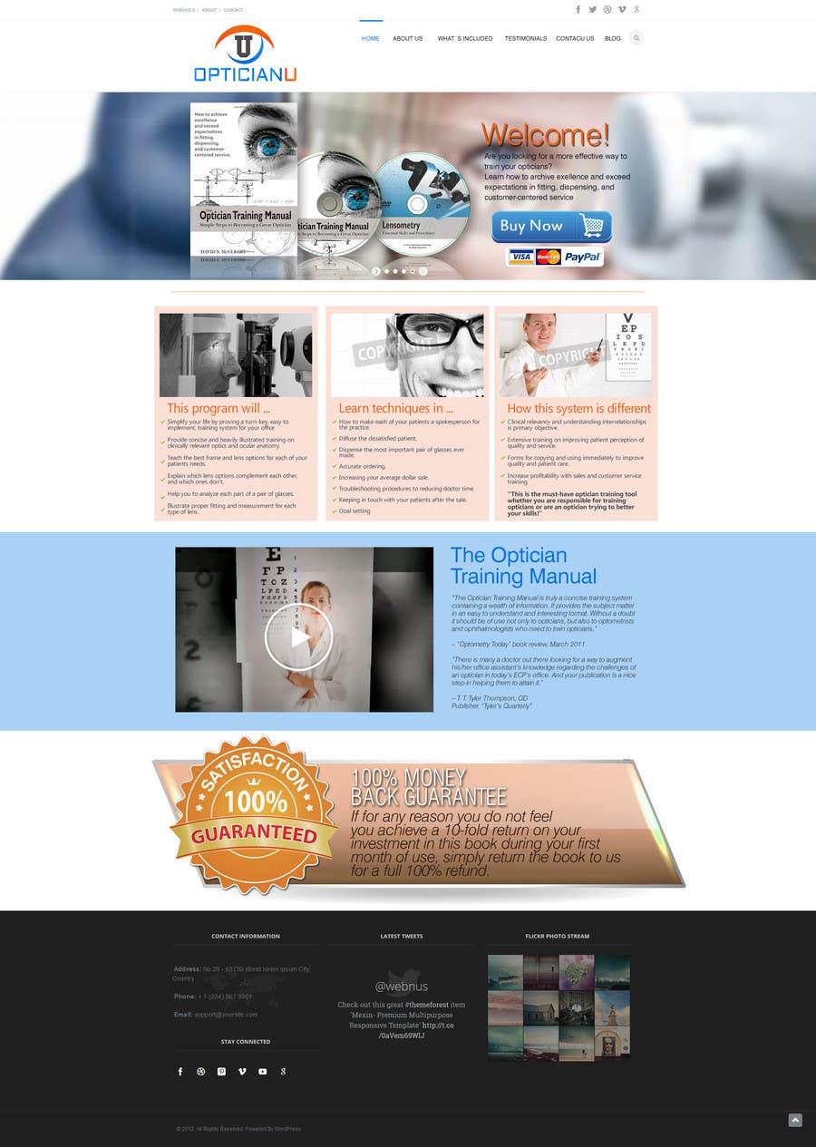 #16 for Design a Website Mockup for www.OpticianTraining.com by puntocreativoCo