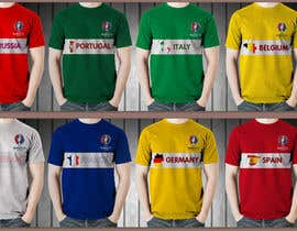 Farzeel26 tarafından Create t-shirt design for Euro Cup 2016 için no 8
