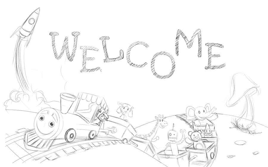 Penyertaan Peraduan #                                        28                                      untuk                                         Childbook author website homepage illustration