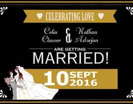 Nro 43 kilpailuun Custom wedding posters käyttäjältä aisyahzaki