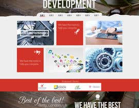 #15 untuk Home Page Design for a Corporate Site ( Would evolve into long term contract) oleh AlexZWoahWeb