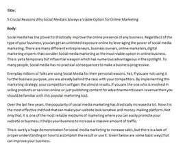 Nro 4 kilpailuun Write Digital Marketing article, looking for long term writer käyttäjältä chandradip123