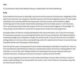 chandradip123 tarafından Write Digital Marketing article, looking for long term writer için no 4