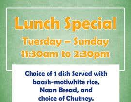 ManimaranP tarafından Design an Advertisement: Create a Restaurant Lunch Menu için no 7