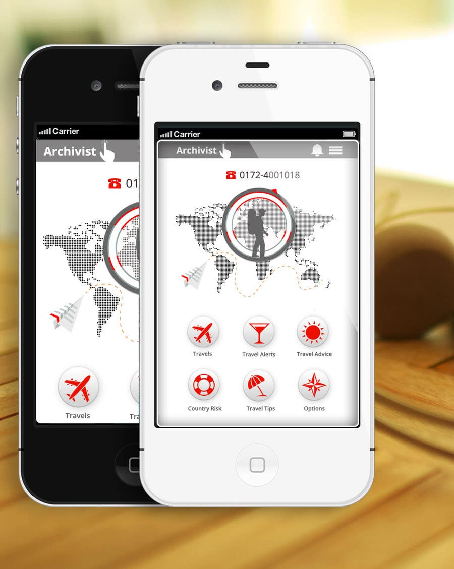 #46 for Design the main page for a travel security app by MagicalDesigner