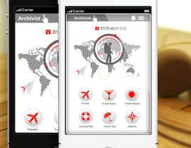 #46 cho Design the main page for a travel security app bởi MagicalDesigner