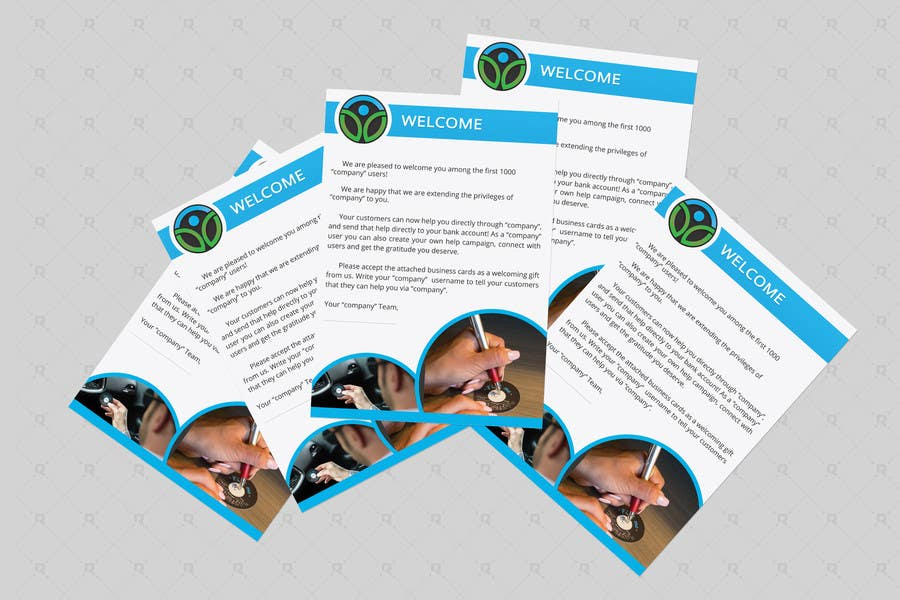 Entry  By Riteshparmar For Design A Welcome Letter  Freelancer