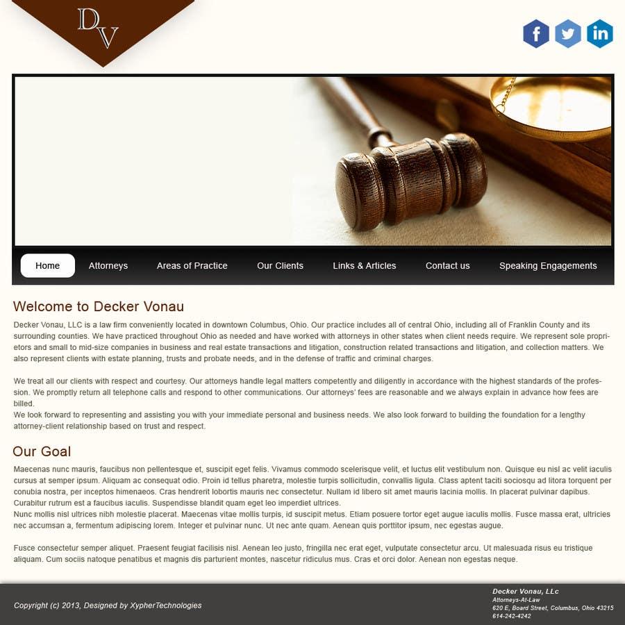 Kilpailutyö #8 kilpailussa Design a Website Mockup for Decker Vonau, LLC